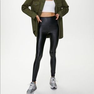 Wilfred Free Daria Legging in Black Faux Leather